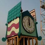 LED Tower Clock Daytime