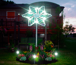 Outdoor Solar Flower using G4 LED Bulbs