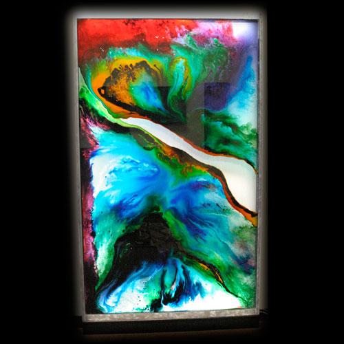 Mixed Media Art Work Using Led Product
