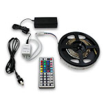"Ribbon Star, RGB 90 LEDs - 118"" Kit with Power Supply and IR Controller"