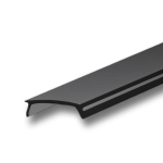 1 Meter Black Diffuser for KL3 Extrusions - Liger 22 Black Cover