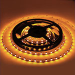 Amber LED strip light