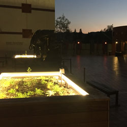 Autry Museum Outdoor Planter Boxes using LED Strip Lights
