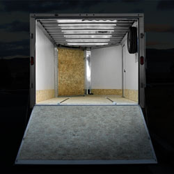 Enclosed Trailer Lighting Retrofit using 12VDC LED Strip Lights