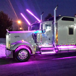 Semi Truck LED Lighting using 12V RGB 180 Waterproof Strips
