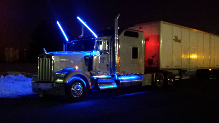 Led Lights For Semi Trucks >> Rgb Color Changing Interior Signs Using 12vdc Ecolocity Led