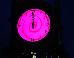 LED Backlit Clock at the Bonnaroo Music Festival
