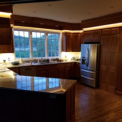 Flexible Strip Lights for a Kitchen and Home Bar