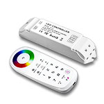 Color Wheel RGB Sync Controller and Receiver Kit, 5-24VDC 6A/CH - RF Remote & Sync Receiver
