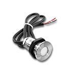 "1.15"" White LED Recessed Light Screw Down - 12VDC, IP67 SS316"