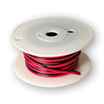2 Conductor DC Connection Wire Red/Black Pair - 22AWG