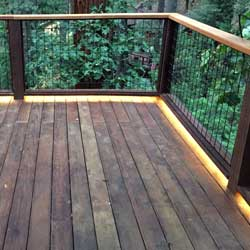 5050 Waterproof Strips add Modern Lighting to an Outdoor Deck