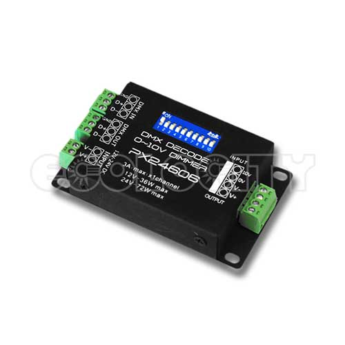 dmx_24606_front_500 dmx driver px24600 for single color led lights Electrical Wire Color Codes at couponss.co