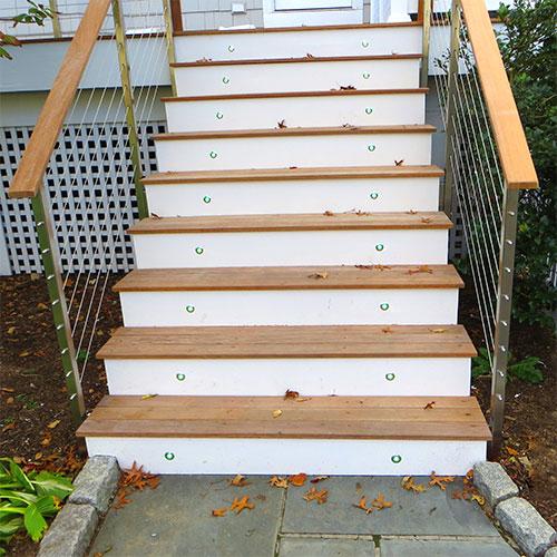 Lighting Basement Washroom Stairs: LED Deck Accent Lighitng Using RGB LED Recessed Lighting