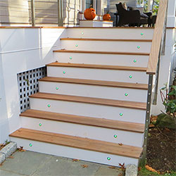 Deck Staircase Accent using Recessed LED Fixtures