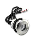 "1.75"" Warm White LED Recessed Light Screw down 60° - 12VDC, IP67 SS316"