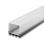 "1 Meter Aluminum Extrusion with Square Translucent Diffuser - 1"" Wide"