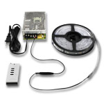 Digital RGB LED Strip Light Kit with Built in Controller - 5M, 12V 75W PS
