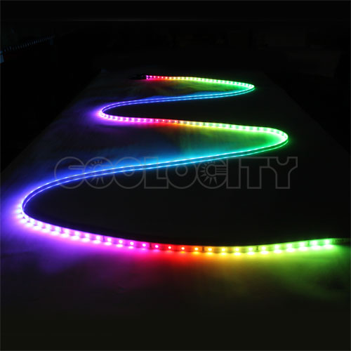digital rgb led dream strip light kit with built in remote control. Black Bedroom Furniture Sets. Home Design Ideas