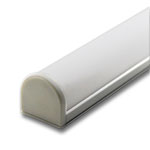 """Plastic End Cap for GIP 1"""" Wide Curved Cover Extrusion"""