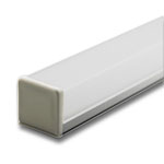 "Plastic End Cap for GIP 1"" Wide Square Cover Extrusion"