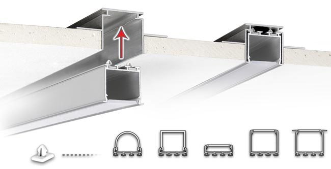 Drywall Mounting Clips : Led extrusion mounting clips for flush drywall