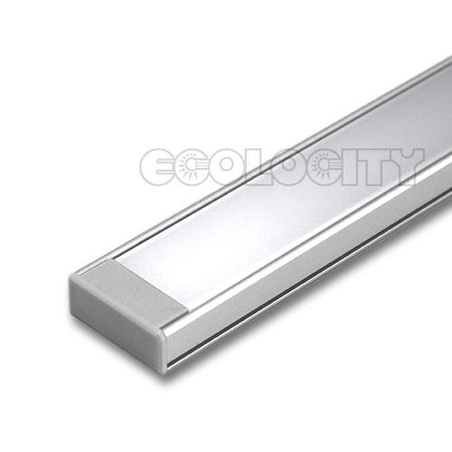 Led aluminum extrusion cap for quot deep rectangle shaped