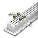 """(2) KMA Flush Mounting Springs for 1"""" Extrusions with Wings"""