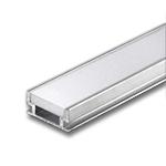 1 Meter Aluminum Extrusion with Frosted Diffuser - Indoor/Outdoor Floor Mount