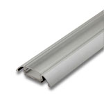 "1 Meter Aluminum Extrusion with Clear Diffuser - .25"" with Wings"