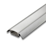 "1 Meter Aluminum Extrusion with Frosted Diffuser - .25"" with Wings"