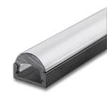 "1 Meter Black Anodized Aluminum Extrusion with Focus Lens - .2"" Deep"