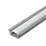 """1 Meter Aluminum Extrusion with Wings and Frosted Diffuser - .2"""" Deep"""