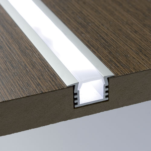 Led Aluminum Extrusion With Wings And Frosted Cover
