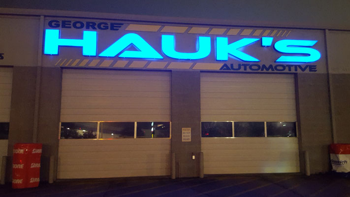 Hauks Auto LED Sign