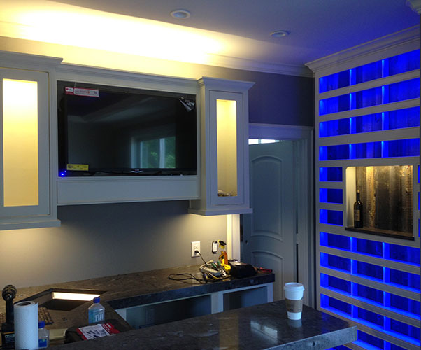 Interior Led Lighting Using Warm White And Rgb Led Strip