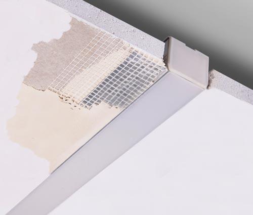 Led Aluminum Extrusion Cap For Kozel 1 Quot Deep Drywall Extrusion