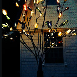 A Bottle Tree Comes to Life using LED Strip Lights