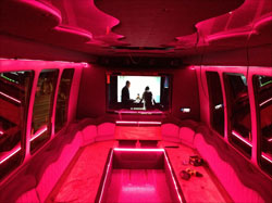 Party Bus Lighting using LED Strip Lights