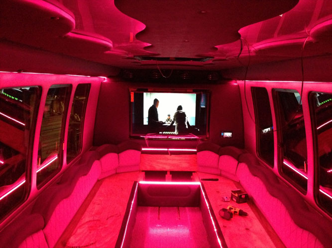 led party bus lighting for amazing color changing effects