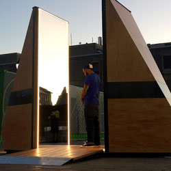"""Ourself"" Public Art Exhibit using Outdoor Extrusions and LED Strips"