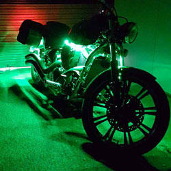 12v waterproof led strips are used on a custom motorcycle motorcycle strip light aloadofball Choice Image