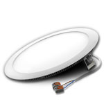 "10"" Round LED Downlight Daylight White 18W with Driver and Cord"