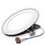 "6"" Round LED Downlight, Warm White 11W with Driver and Cord"