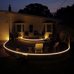 LED Deck Lighting using Waterproof LED Strip Lights