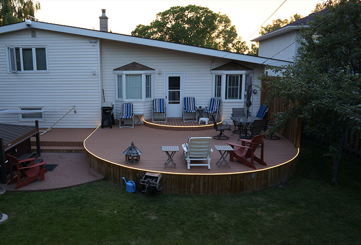 Led Strip Lights For Deck Lighting And Patio