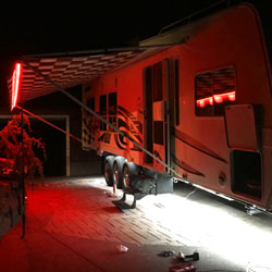 Ribbon star max led strip lights are used for exterior camper lighting mozeypictures Gallery