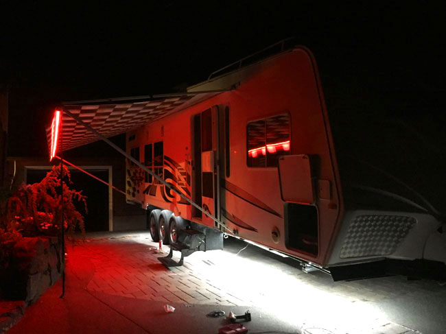 Ribbon star max led strip lights are used for exterior camper lighting this lighting is perfect for entertaining guests or to make the campsite easy to find in a crowded location the end result was amazing and the customer audiocablefo