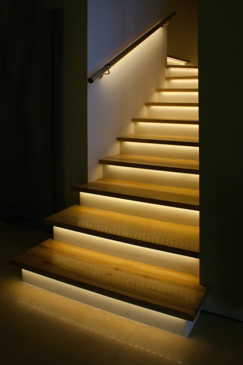 Led aluminum extrusion with frosted cover - Escaleras con led ...