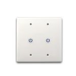 LED Touch Dimmer  2 Gang Faceplate, 12-24VDC 8Ax2CH